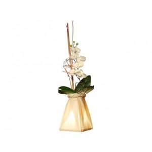 Vase lumineux écru