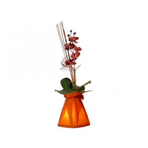 Vase lumineux orange