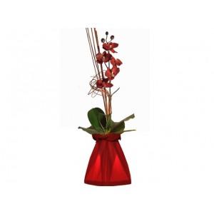 Vase lumineux rouge