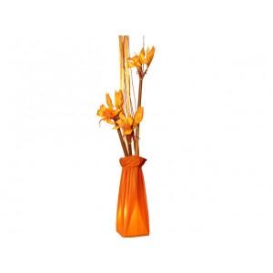 Lampe fleurs orange