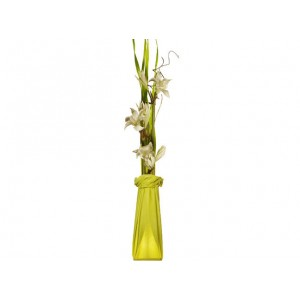 Lampe fleurs verte