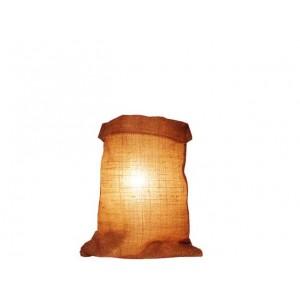 Lampe toile de jute forme sac