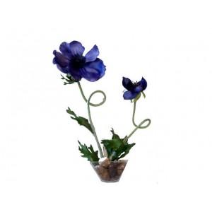 Inclusion fleurs bleues
